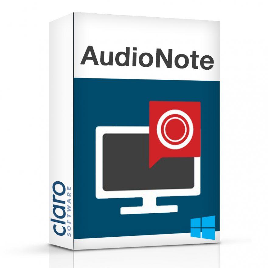 AudioNote Software Box
