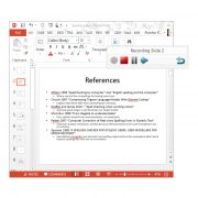 AudioNote Screenshot showing toolbar over PowerPoint