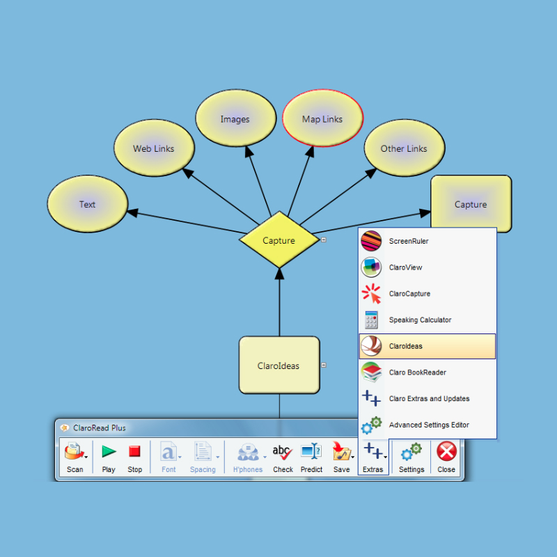 ClaroRead Plus Screenshot of ClaroIdeas Tool