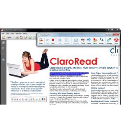 ClaroRead Plus Screenshot of Toolbar and a PDF